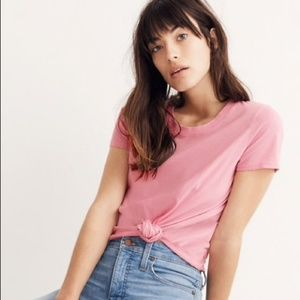 Madewell pink tie knot t-shirt